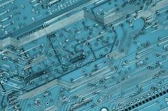 Plan rapproché de plaque de circuit Images libres de droits