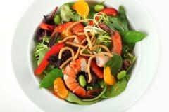 Plan rapproché de plaque de salade asiatique de crevette photo libre de droits