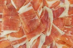 Plan rapproché de plat de jambon de gland, vue supérieure Images libres de droits