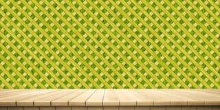 Plan rapproché de plate-forme et de barrière/de fond en bois colorés de clôture, vue de face illustration stock