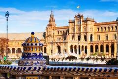 Plan rapproché de Plaza de Espana Photos libres de droits