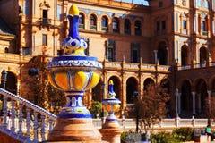 Plan rapproché de Plaza de Espana chez Séville Photos libres de droits