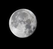 Plan rapproché de pleine lune, pris le 27 novembre 2015 Photo stock