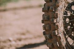 Plan rapproché de pneu de motocross Photographie stock