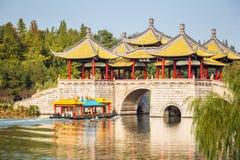 Plan rapproché de pont de pavillon de Yangzhou cinq image libre de droits