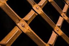 Plan rapproché de porte de cachot de fer Image libre de droits