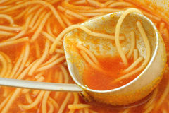 Plan rapproché de potage de tomate Photographie stock