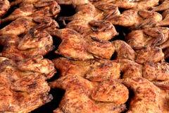 plan rapproché de poulet de barbecue Photos stock