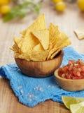 Plan rapproché de puces de tortilla photo stock