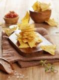Plan rapproché de puces de tortilla images stock