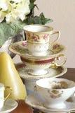 Plan rapproché de réception de thé image stock
