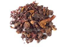 Plan rapproché de résine d'arbre de myrrhe photos libres de droits