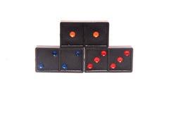 Plan rapproché de rangée de domino Photos stock