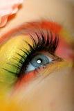 Plan rapproché de renivellement créateur d'oeil de mode d'été Photos stock