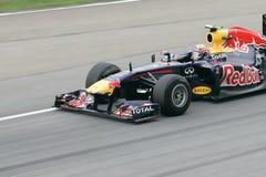 Plan rapproché de repère Webber sur la piste Photos stock