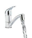 Plan rapproché de robinet d'alimentation en eau image stock