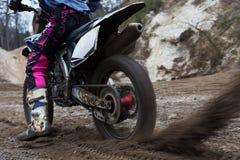 Plan rapproché de roue de motocross Images libres de droits