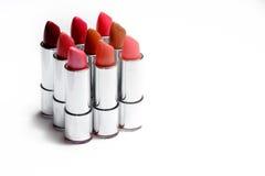 Plan rapproché de rouge à lèvres du côté Photos stock