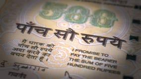 Plan rapproché de roupie indienne Images libres de droits