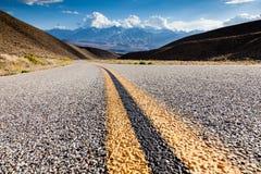Plan rapproché de route en Californie Images libres de droits