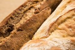 Plan rapproché de Rye et de pain blanc Photographie stock libre de droits