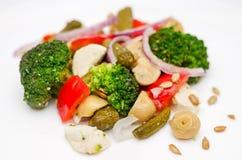Plan rapproché de salade de brocoli images stock