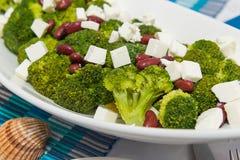 Plan rapproché de salade de brocoli Photos libres de droits