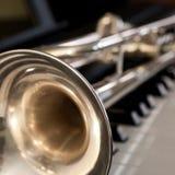 Plan rapproché de segment de trompette images stock