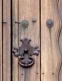 Plan rapproché de serrure sur la porte à la mission Santa Ynez Photos libres de droits