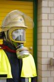Plan rapproché de simulacre de sapeur-pompier photo libre de droits