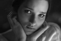 Plan rapproché de sourire de femme Photographie stock libre de droits