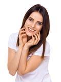Plan rapproché de sourire de femme de beauté Photo stock