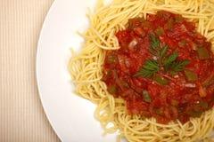 Plan rapproché de spaghetti Photographie stock libre de droits