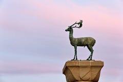 Plan rapproché de statue de cerfs communs de Rhodes Photos libres de droits