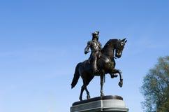 Plan rapproché de statut de jardin public de Boston Photos libres de droits