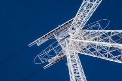 Plan rapproché de structure de pylône de funiculaire de remonte-pente Photos stock