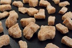 Plan rapproché de sucre de canne de roche Images libres de droits