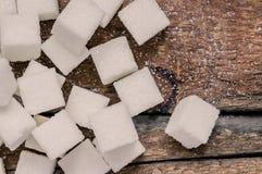Plan rapproché de sucre raffiné photographie stock