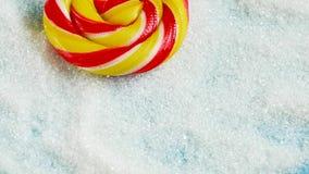 Plan rapproché de sucrerie se trouvant sur le sucre Nourriture et sant? Sugar Addiction clips vidéos