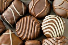 Plan rapproché de sucreries de chocolat Image libre de droits