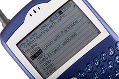 Plan rapproché de téléphone portable de mûre Photos stock