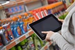Plan rapproché de tablette photo libre de droits