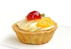 Plan rapproché de tarte délicieuse de fruit frais image libre de droits