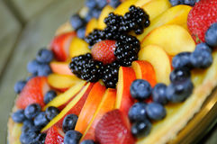 Plan rapproché de tarte de fruit Photos stock