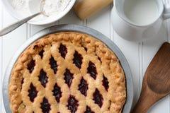 Plan rapproché de tarte de fruit Photo libre de droits
