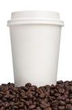 Plan rapproché de tasse de café Images libres de droits
