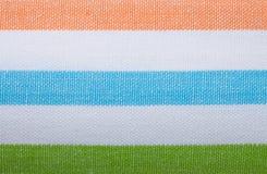 Plan rapproché de textile rayé coloré comme fond ou texture photo stock