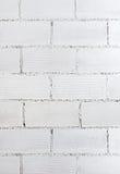 Texture blanche de mur de briques Photo libre de droits