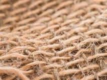 Plan rapproché de texture de ficelle de jute Photo libre de droits