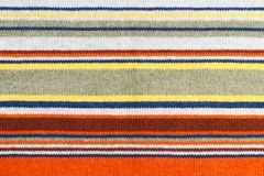 Plan rapproché de texture tricotée colorée de laine Fond multicolore de tissu Photo libre de droits